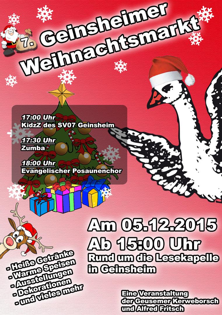 Flyer Weihnachtsmarkt
